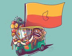 Happy Ugadi on Behance Indian Artwork, Indian Folk Art, Indian Art Paintings, Cartoon Drawings, Cartoon Art, Unity Photography, Elephant Sketch, Alien Crafts, Indian Illustration
