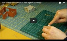 How to seal the bottom of your lighted buildings