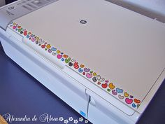 Washi on your notebook PC, scanner, etc.