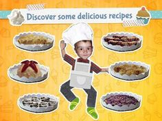 My Little Cook: I bake delicious cakes - a role-play app with 10 real pastry recipes. Recipe T, Cake Games, Pastry Recipes, Best Apps, Role Play, Yummy Cakes, Activities For Kids, Yummy Food, Cook