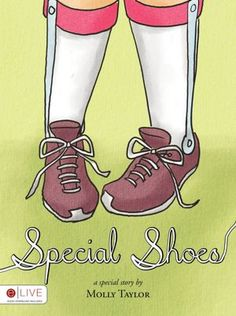 A new SPECIAL NEEDS children's book! -Emma is a young girl who loves a famous story about a princess with special shoes. Emma's mother reads her this story every night, and it's just what Emma needs to meet the challenges of her day. In Special Shoes, you will learn about the challenges Emma and other children like her face.   - Pinned by @PediaStaff – Please Visit http://ht.ly/63sNt for all our pediatric therapy pins