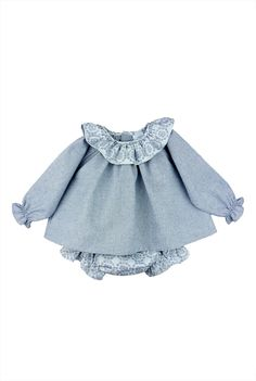 Paloma de la O Houndstooth blouse with floral print bloomer #fashionkids #babyfashion