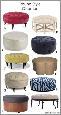 Do You Have A Brown Leather Blob Of An Ottoman? These Are Much More Stylish...