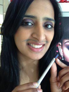 with Annabelle metallic kohl in Saphir Movember, Moustache, Anna, Metallic, Mustache, Moustaches