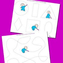 Harold and the Purple Crayon Prewriting Tracing Pack