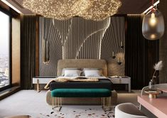 Modern Luxury Bedroom, Master Bedroom Interior, Luxury Bedroom Design, Home Room Design, Luxurious Bedrooms, Bed Design, Home Interior Design, Living Room Designs, Bedroom Decor