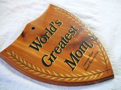 World's Greatest Mom Wood Plaque Wood Plaque by VintagePlusCrafts, $6.00