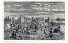 Antique print Fort Yukon Alaska 1869 Hudson s Bay Company