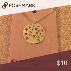 🕊Soar🕊Amanda Blu Gold Statement Pendant Necklace Amanda Blu Motivational Pendant Necklace Gold - 18+2in extension 🕊Soar🕊   Please read the details of the listing ✔Not used or tested✔ 💯Brand new HIGH QUALITY💯 💯What u see is what u get💯  ⭐WEEKEND SALE ENDS SUNDAY NIGHT⭐ ❤Please Check out my Closet❤ ➕ BUNDLE n Save 10% off 4 or more➕ ❌ No Offers on items $6 n under  ➖All prices reduced➖ ⚡Next Day Shipping⚡ ⭐⭐⭐⭐⭐ Top Rated Seller ❤Trying to raise money 4 my family thank u Amanda Blu…