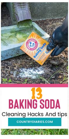 These are some clever and unexpected ways to use baking soda. either to clean or do other things that will come in handy. #cleaning #cleaninghacks #householdhacks #cleaningtips #householdtips