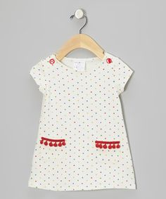 Take a look at this White & Red Heart Dress - Infant, Toddler & Girls on zulily today!