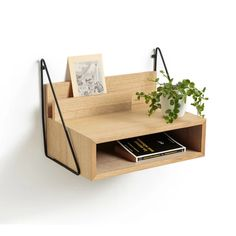 The Trigala offers a wall-mounted table for your bedside to keep all your essentials. Wall Mounted Bedside Table, Bedside Shelf, Floating Nightstand, Bedside Tables, Couch Table, Table And Chair Sets, Bedside Lighting, Bedside Wall Lights, Light Oak