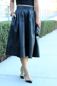 leather skirt - a must for fall!