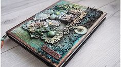 Polymer Clay Notebook Cover - Purple & Blue Easy Ornate Design Tutorial - DIY Journal/Book Cover - YouTube