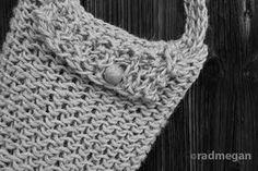 Loom knit jute satchel