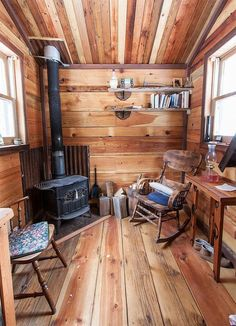 """Author, editor, and self-taught woodworker Charles Finn spent the better part of his 30's simplifying his life for """"economic, aesthetic and quasi-spiritual reasons"""". In doing so, he gradually began downsizing his living spaces until he ended up in a 7 x 12′ gypsy wagon built by a friend. Soon after, he landed a house sitting position in Potomac,...Read More »"""