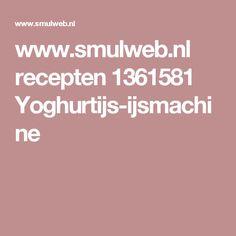 www.smulweb.nl recepten 1361581 Yoghurtijs-ijsmachine Pesto, Tapas, Dinner Recipes, Lunch, Snacks, Food, Diners, Chili Con Carne, Mushroom