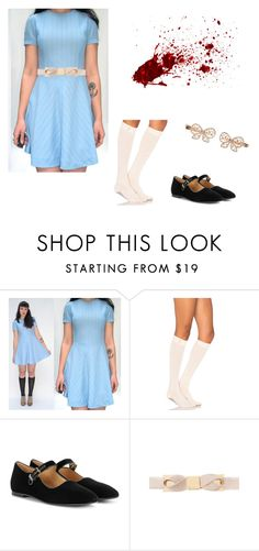 """""The Shining"" The Grady Twins Costume"" by oliviaf14 ❤ liked on Polyvore featuring ToeSox, The Row, Ted Baker and Monsoon"