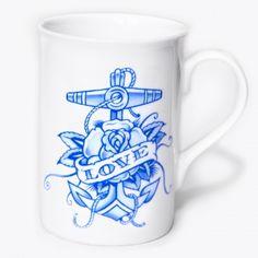 #LOVE #ANCHOR #BLUE #TEA £9.50 http://toxico.uk/37-ceramics