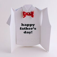 Happy Father's Day die cut card) Fathers Day Shirts, Fathers Day Crafts, Happy Fathers Day, Up Book, Happy Words, 3d Cards, Die Cut Cards, Letter Size Paper, Kirigami