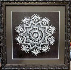Framed Doily by Frameworks of Utah. Why keep in in the drawer or cedar chest? Display it so everyone can enjoy your talent.