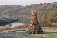 Nikola-Lenivets park. Kaluga region. Russia.