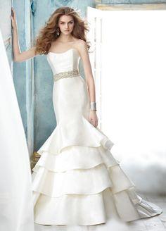 Trumpet Mermaid Sweetheart Brush Train Wedding Dress H5jc0120