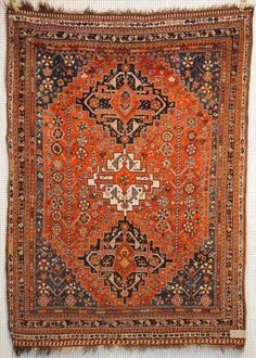 Persian Qashqai rug circa 1900                                                                                                                                                                                 More
