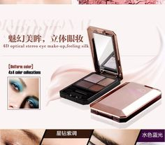 Free Shipping Flamingo 4D Optical Stereo Eye Shadow Four Colors Nature Mineral Pearlescent Eye Shadow Powder Easy to Wear 568
