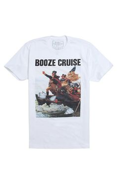 f3920524d32 Riot Society Booze Cruise T-Shirt - Mens Tee - White