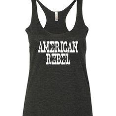 American Rebel Tank Top. Country Tank Top. Eric Church Miranda Lambert Tank top by SouthernCharme