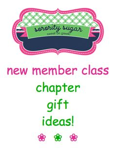 does your new member class need to present your sorority with a special gift? get keepsake giftie ideas from sorority sugar <3 BLOG LINK: http://sororitysugar.tumblr.com/post/47318979200/new-member-class-chapter-gift-ideas#notes