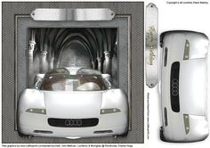 A quick and easy topper to complete for car lovers.  Designed to fit an 8 inch square card