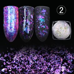 1 box born pretty transparent chamäleon pailletten staub dazzling paillette maniküre nail art glitter blatt dekorationen