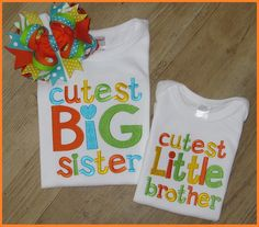 Big Sister, Little Sister, Big Brother, Little Brother Sibling Set,