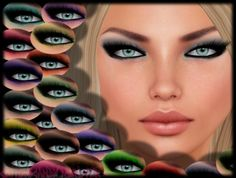 Second Life Marketplace - {C.C.M.} Tintable Smokey Eyeshadow - You Choose the Color!