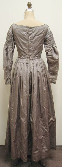 Dress Date: 1840s Culture: American Medium: silk, cotton