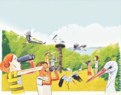 Den Storch, seine Lebensbedingungen und sein verändertes Zugverhalten zu erforschen ist das Ziel des Bildungsangebotes www.storchenforscher.ch Das kompetenzorientierte und lehrplankompatible Angebot richtet sich an die Primar- und Sekundarstufe 1 und ist durch Partner aus Bildung und Storchenforschung gemeinsam erarbeitet worden. Partner, Painting, Stork, Searching, Exploring, Research, Goal, Education, Painting Art
