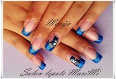 Nokti, Blue Nails, Nail Art Blue Nails, Nail Art, Beauty, Blue Nail Beds, Beleza, Blue Nail, Nail Arts, Art Nails