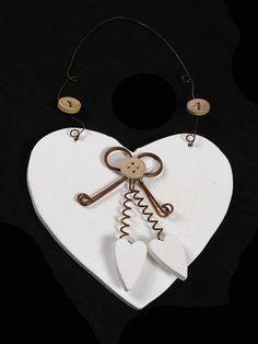 Nordic Wooden Heart Hanger Assorted Colours