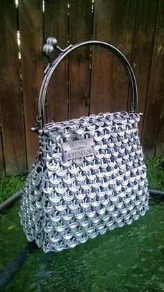 Vintage inspired purse Soda Pull Tabs Beer Tabs by OodiesHotMesh: