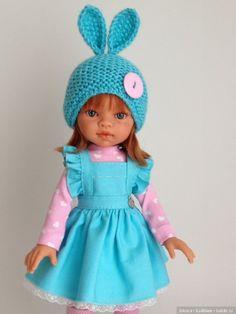 """Комплект """"Зайка в сарафане """" / Одежда для кукол / Шопик. Продать купить куклу / Бэйбики. Куклы фото. Одежда для кукол"""