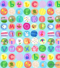 Alphabet Print by Jill McDonald Design