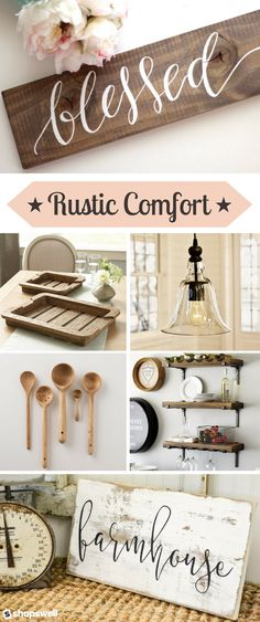 Rustic with a touch of modern country make for one gorgeous cozy home decor collection. Shop the gorgeous home living collection now!
