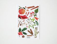 SEASONS postcards set of 4 by oanabefort on Etsy