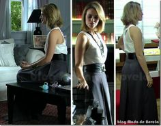 Look inesquecível do dia 28 de março: saia longa de alfaiataria da Marina na novela Insensato Coração (2011)