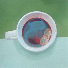 Richard Diebenkorn -- A surprising difference in subject matter from the typical Diebenkorns. #tea #cupa #cupoftea