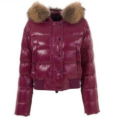 Women Moncler Crimson Lightweight Puffer Jacket