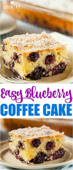 Easy Blueberry Bisquick Coffee Cake recipe from The Country Cook