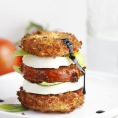 Fried Caprese Salad!  Of course use Granny's Good Ol' Fashion Bacon Drippings for all your frying!!